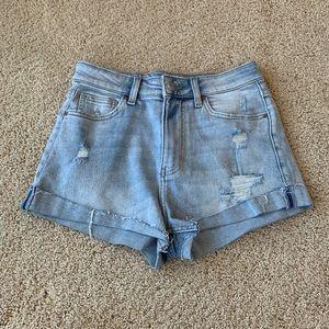 H&M Distressed Light Wash Jean Shorts